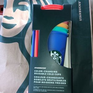 NWT Starbucks 5pack color change cups 2020 pride